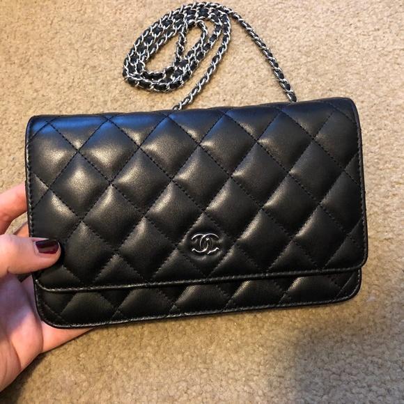 b21bdb7f4b99 CHANEL Handbags - Chanel WOC Wallet On Chain Black Lambskin Mint